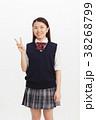 高校生 女の子 ピースの写真 38268799