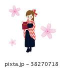 女子大生 袴 卒業証書のイラスト 38270718