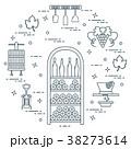 ワイン ワイン造り ガラスのイラスト 38273614