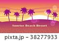 シームレスなビーチリゾートの背景 38277933