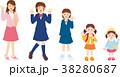 ポーズ 成長 幼稚園児のイラスト 38280687