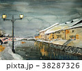 小樽運河 夜景 38287326