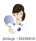 浴衣の女性と金魚すくい 38289610