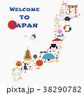 マップ ベクトル 日本のイラスト 38290782