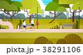パーク 公園 バックグラウンドのイラスト 38291106