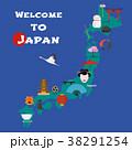 マップ ベクトル 日本のイラスト 38291254