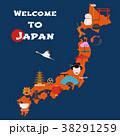 マップ ベクトル 日本のイラスト 38291259