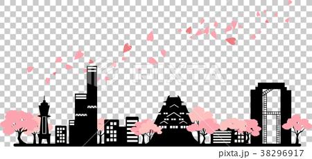 櫻花大阪剪影 38296917