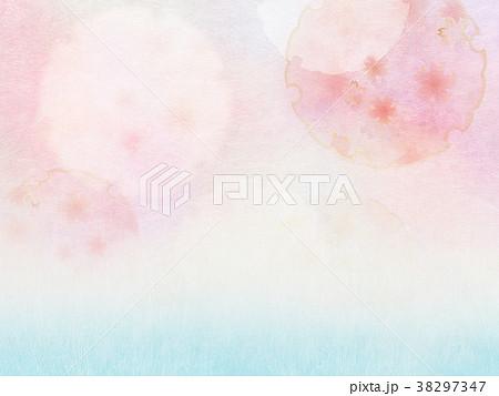 背景-桜-和紙-春 38297347