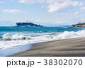 波 海岸 江ノ島の写真 38302070