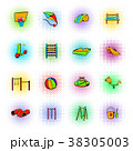 Park playground icons set 38305003