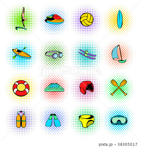 Water Sport Icons set 38305017