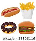 ドーナツ ホットドック 食のイラスト 38306116