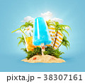 アイス アイスクリーム ヤシのイラスト 38307161