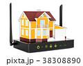 ルーター 住宅 立体のイラスト 38308890