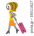 旅行 旅 女性のイラスト 38311627