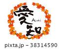 愛知 筆文字 紅葉 秋 フレーム 38314590