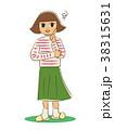 女の子 女性 悩むのイラスト 38315631