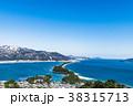 天橋立 冬 雪景色 38315713