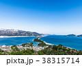 天橋立 冬 雪景色 38315714