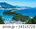 天橋立 冬 雪景色の写真 38315728