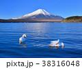 山中湖畔からの冬の風景-777185 38316048