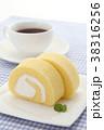ロールケーキ 洋菓子 焼き菓子の写真 38316256