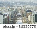 さっぽろテレビ塔からの眺め(雪まつり会場) 38320775