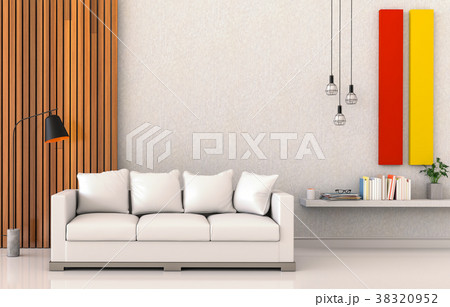 3D rendering of interior modern living room  38320952