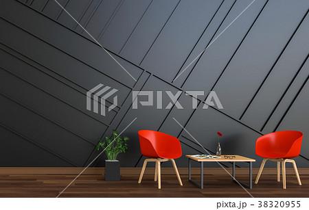 3D rendering of interior modern living room  38320955