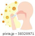 予防 花粉 ウイルスのイラスト 38320971