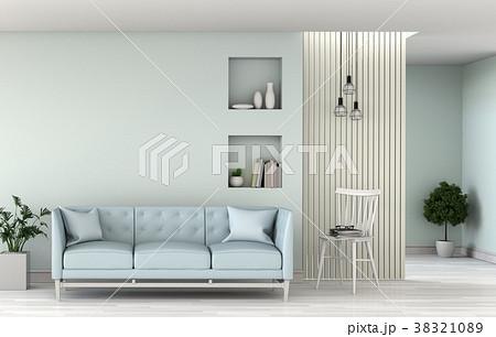 3D rendering of interior modern living room  38321089