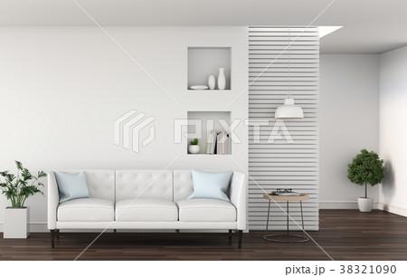 3D rendering of interior modern living room  38321090