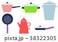 北欧風キッチン鍋アイコン 38322305