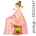 よもぎ蒸し 美容 女性のイラスト 38322547