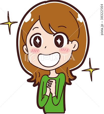 笑顔の女性のイラスト素材 38322564