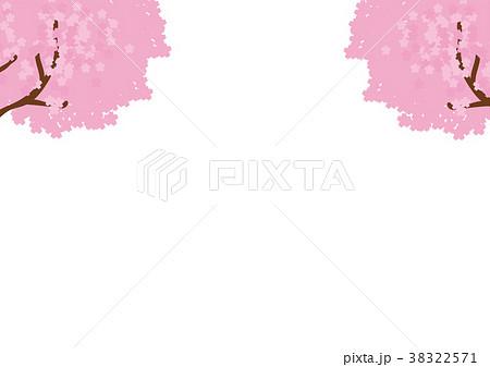 桜のメッセージイラスト素材 38322571