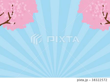 桜のメッセージイラスト素材 38322572