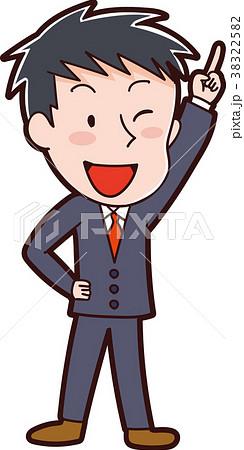 スーツを着た男性のイラスト素材 38322582