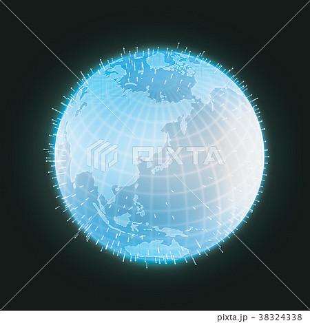 地球グラフィックイメージ(グローバルネットワーク・インターネット・ITイメージ) 38324338