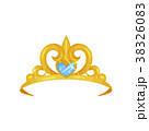 Elegant royal crown decorated with big blue 38326083