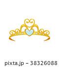 Golden princess tiara. Beautiful queen crown 38326088