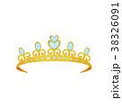 Shiny princess tiara decorated with blue gems 38326091