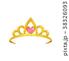 Cartoon icon of shiny princess crown with precious 38326093