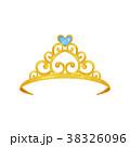Colorful illustration of golden princess crown 38326096