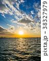 江川海岸 海 夕日の写真 38327979