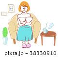人物 イラスト 女性 部屋 38330910