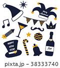 クリスマス 帽子 ハットのイラスト 38333740