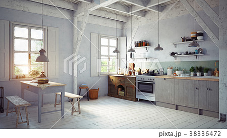 style kitchen interior. 38336472