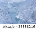 只見川第一鉄橋 雪景色 雪の写真 38338216